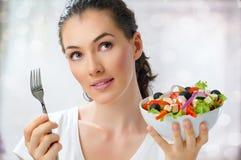 Manger de la nourriture saine Images libres de droits