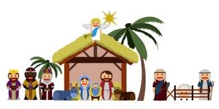 manger illustration. Manger illustration on a white background, Vector illustration Stock Photo