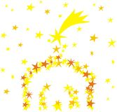 Manger made of stars. On white background Royalty Free Stock Image
