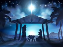 Manger Nativity Christmas Scene Stock Photography