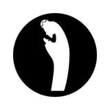 Manger saint joseph figure silhouette icon Stock Images