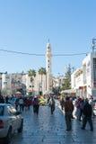 Manger Square in Bethlehem Stock Images