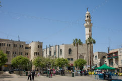 Manger Square and Mosque of Omar, Bethlehem, Israel Stock Photography