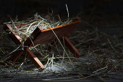 Manger in the stable abstract christmas symbol royalty free stock image