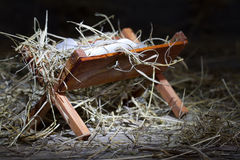 Manger in the stable abstract christmas symbol Royalty Free Stock Images