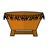 Manger Straw cradle icon Royalty Free Stock Photography