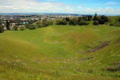 Mangere Volcano Crater Foto de Stock Royalty Free
