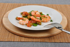 mangetout豌豆虾 图库摄影