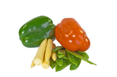 Mangetout, Baby Corn and Peppers Royalty Free Stock Images