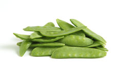Mangetout Peas Stock Photo