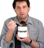 Mangeur de café Images libres de droits