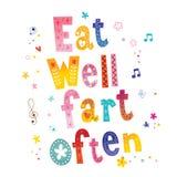 Mangez bien le pet souvent illustration de vecteur