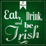 Mangez, boisson et soyez irlandais illustration stock