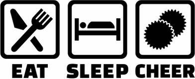Mangez cheerleading de sommeil illustration stock