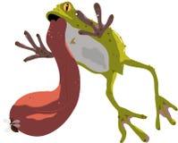 Mangez de la grenouille illustration libre de droits