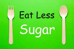 Mangez de moins de sucre images stock