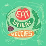 Mangez de vos veggies illustration de vecteur
