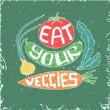 Mangez de vos veggies illustration stock