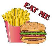Mangez des aliments de préparation rapide illustration libre de droits