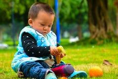 Mangez du fruit favorise la croissance du bébé images libres de droits