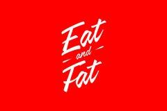 Mangez et graisse Photos libres de droits