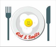 Mangez et souriez illustration de vecteur