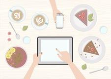 Mangez et travaillez illustration stock