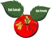 Mangez frais et mangez les produits locaux?. illustration de vecteur
