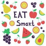 Mangez fut? Concept sain de style de vie illustration de vecteur