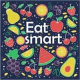 Mangez fut? Concept sain de style de vie slogan illustration de vecteur