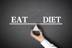 Mangez l'équilibre de régime image stock