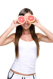 Mangez l'abondance de la vitamine C. Photo libre de droits
