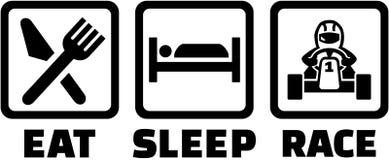 Mangez l'emballage de kart de sommeil illustration stock