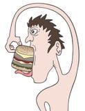 Mangez l'hamburger illustration de vecteur