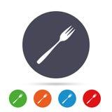 Mangez l'icône de signe Fourchette diagonale de dessert illustration libre de droits