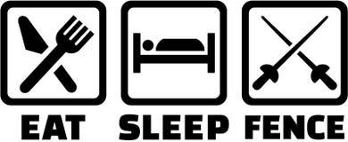 Mangez la barrière de sommeil illustration libre de droits