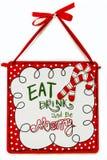 Mangez la boisson et soyez joyeux illustration libre de droits