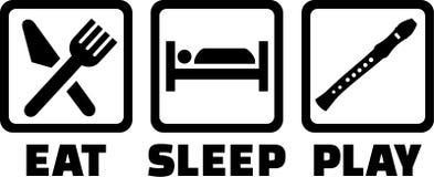 Mangez la cannelure de jeu de sommeil illustration libre de droits
