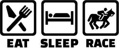 Mangez la course de cheval de sommeil illustration de vecteur