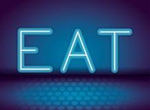 Mangez la publicité au néon illustration libre de droits