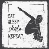 Mangez la répétition de patin de sommeil Citation de motivation Affiche créative de typographie de vecteur illustration stock