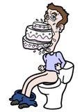 Mangez la toilette illustration stock
