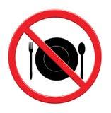 Mangez le backgrounde d'icône de nourriture de signe sur le blanc illustration libre de droits