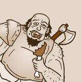 Mangez le barbare illustration de vecteur