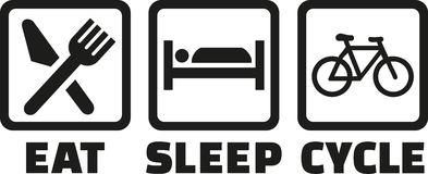 Mangez le cycle de sommeil illustration stock