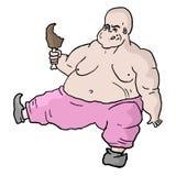 Mangez le gros homme illustration stock