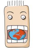 Mangez le monde illustration stock