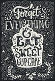 Mangez le petit gâteau illustration stock