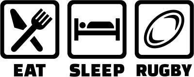 Mangez le rugby de sommeil illustration stock