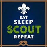 Mangez le scout Repeat de sommeil illustration libre de droits